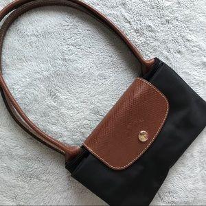 Longchamp Le Pliage Black Small Packable Tote Bag